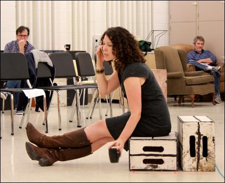 In rehearsal, Hangar Theatre