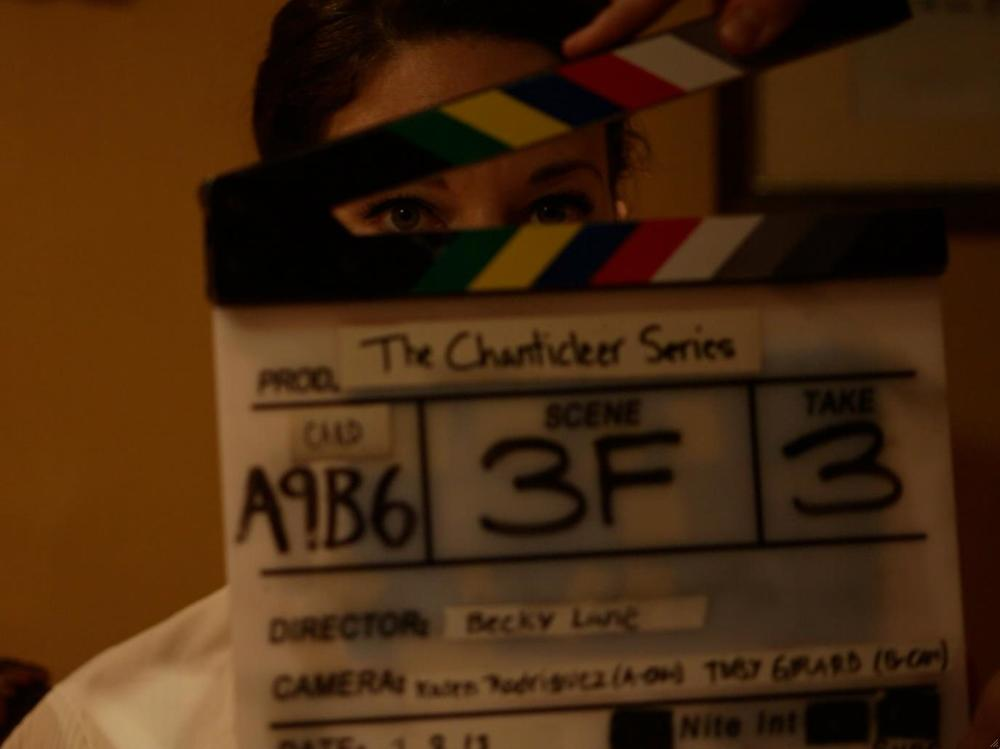 On set at the Chanticleer