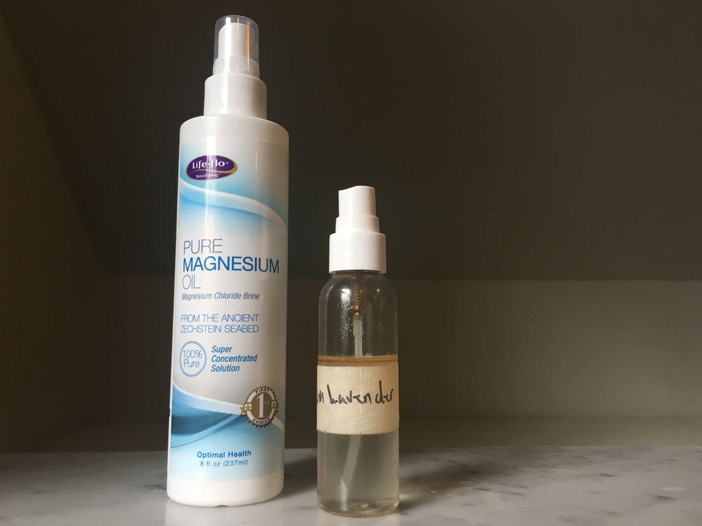 DIY Magnesium Oil Lavender Deodorant