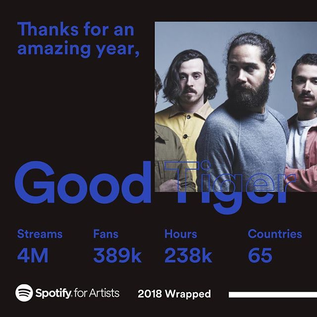 Thank you to everybody that gave us a listen in 2018! We're excited for the future of Good Tiger.