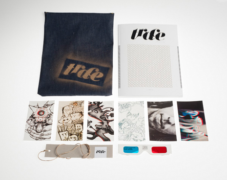 Each copy of TRACE came with a hand made leather pouch, a set of 6 postcards featuring imagery from the magazine articles, 3D glasses for content with 3D imagery and a TRACE bookmark.