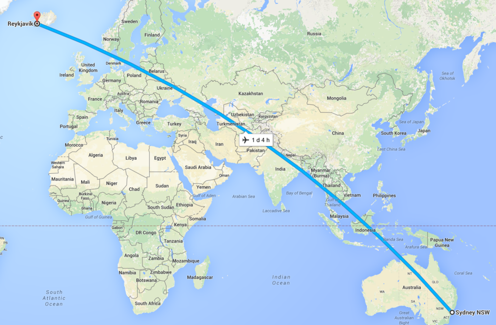 16,604KM as the very tired crow may fly. About as far from home as I can ever be.