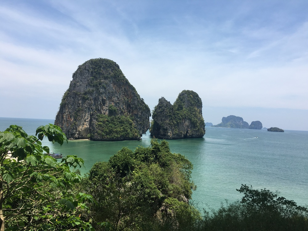 Nice shot from today Alexis took on one of our climbs on 'Escher Wall' in Railay, Thailand.