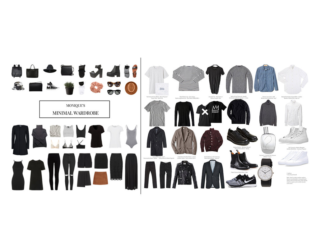 Some good capsule wardrobe examples from around the webiverse