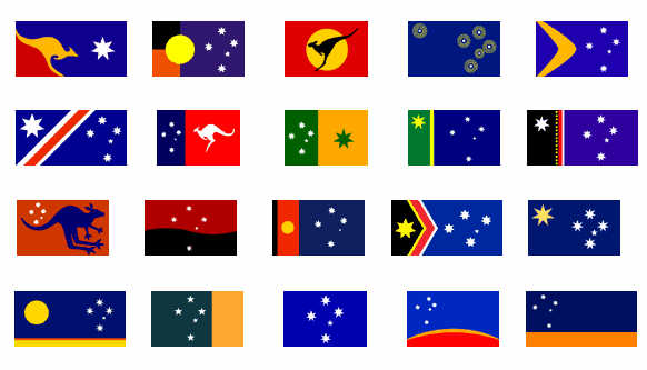 Australian flag redesign competition entries, 1998