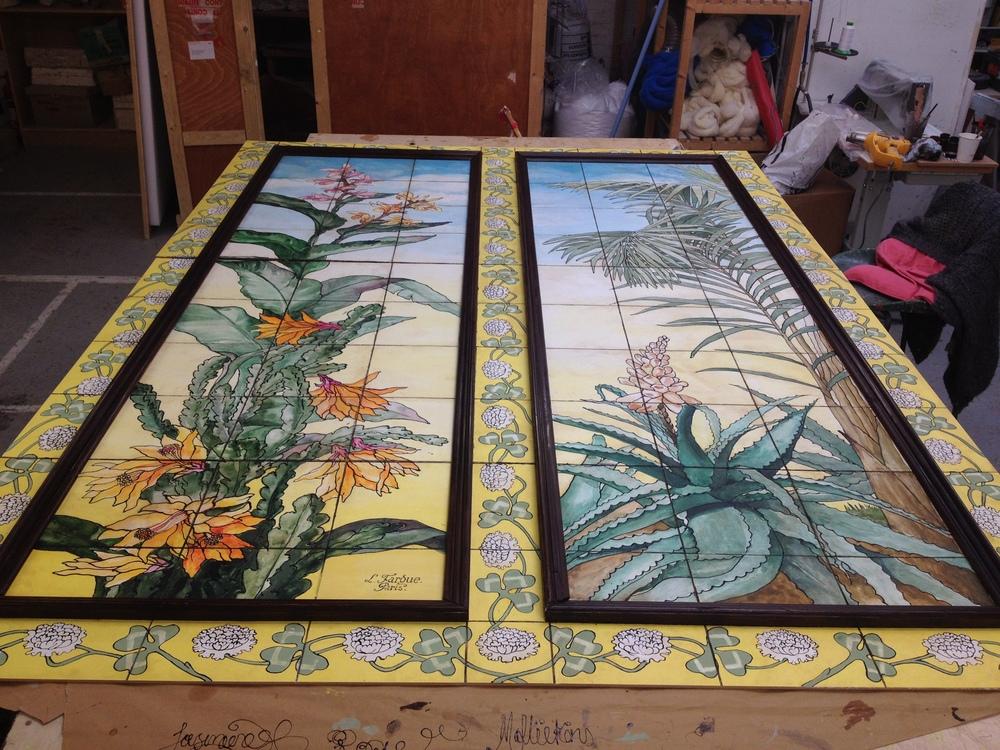 Painted/relief floor panels