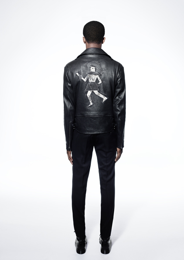 Bespoke painted leather jacket