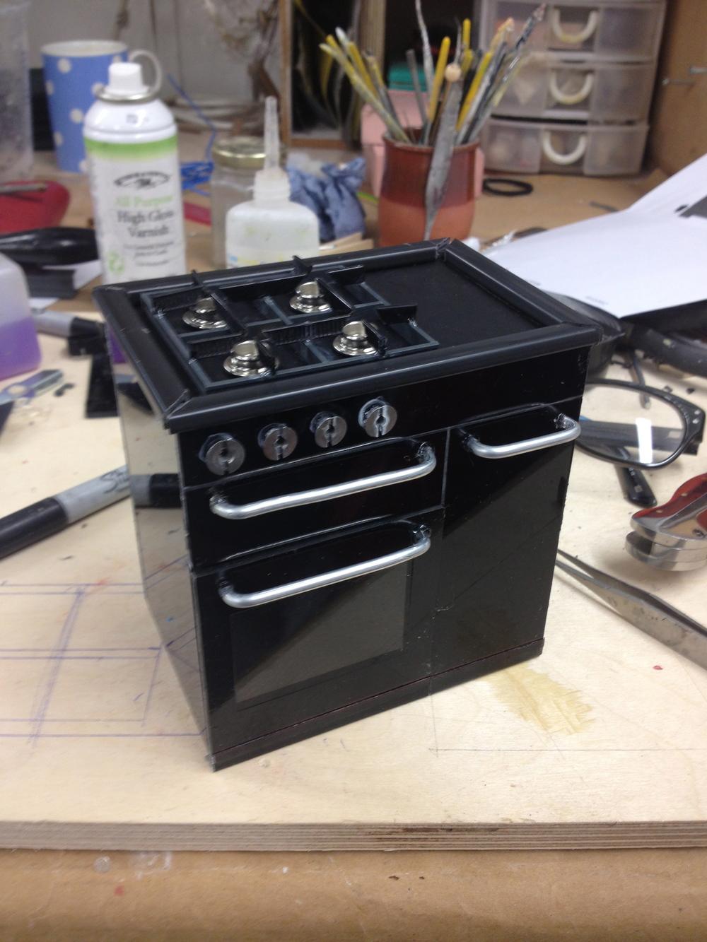 Miniature oven model