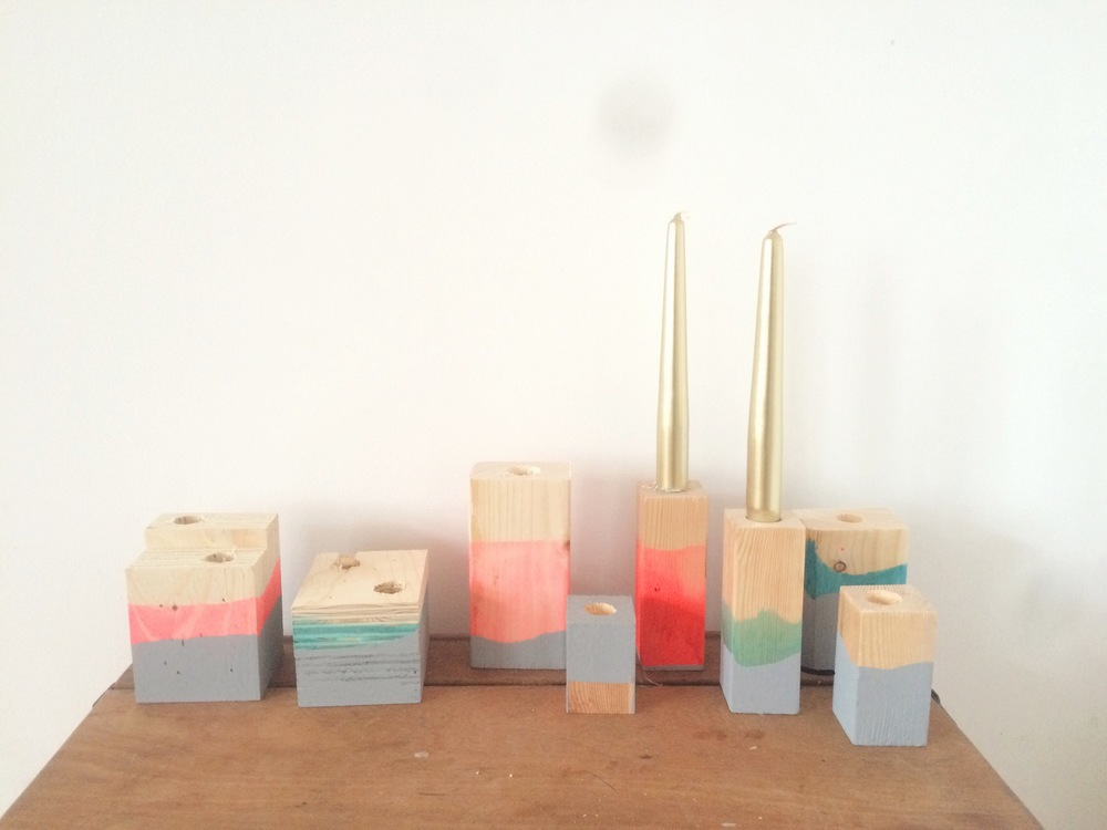 candle holder prototypes