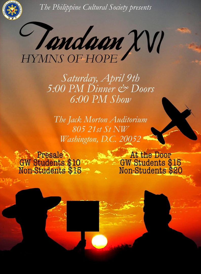 "George Washington University Philippine Cultural Society- ""Tandaan"" (In Remembrance)"