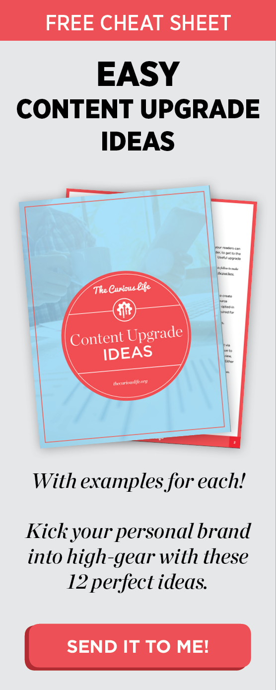 Content upgrade ideas free list guide cheatsheet