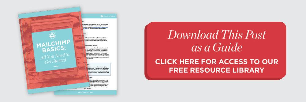 Mailchimp Basics Guide How-to Newsletter List blog