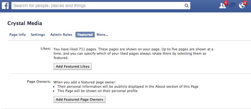display admins on facebook