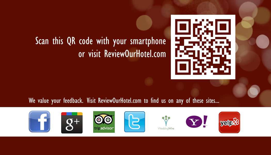 qr code review sign