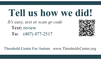 qr code and text to review