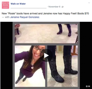 walk on water facebook