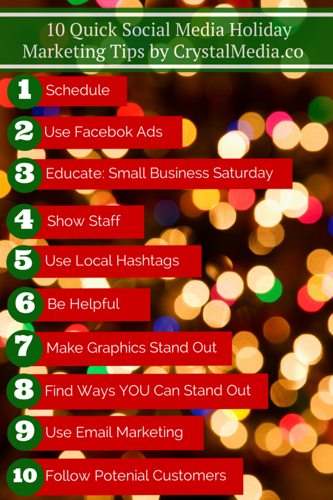 social media holiday marketing tips