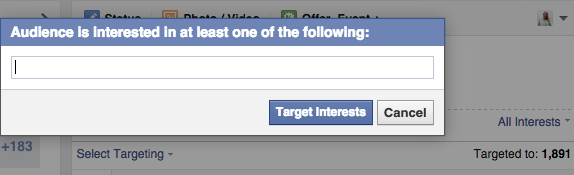 facebook post targeting by interests