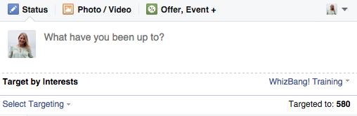 target fans by interests on Facebook