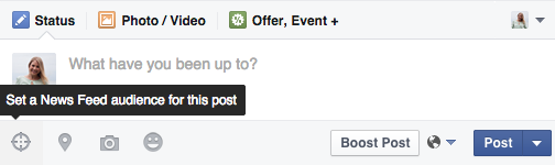 targeting on a post