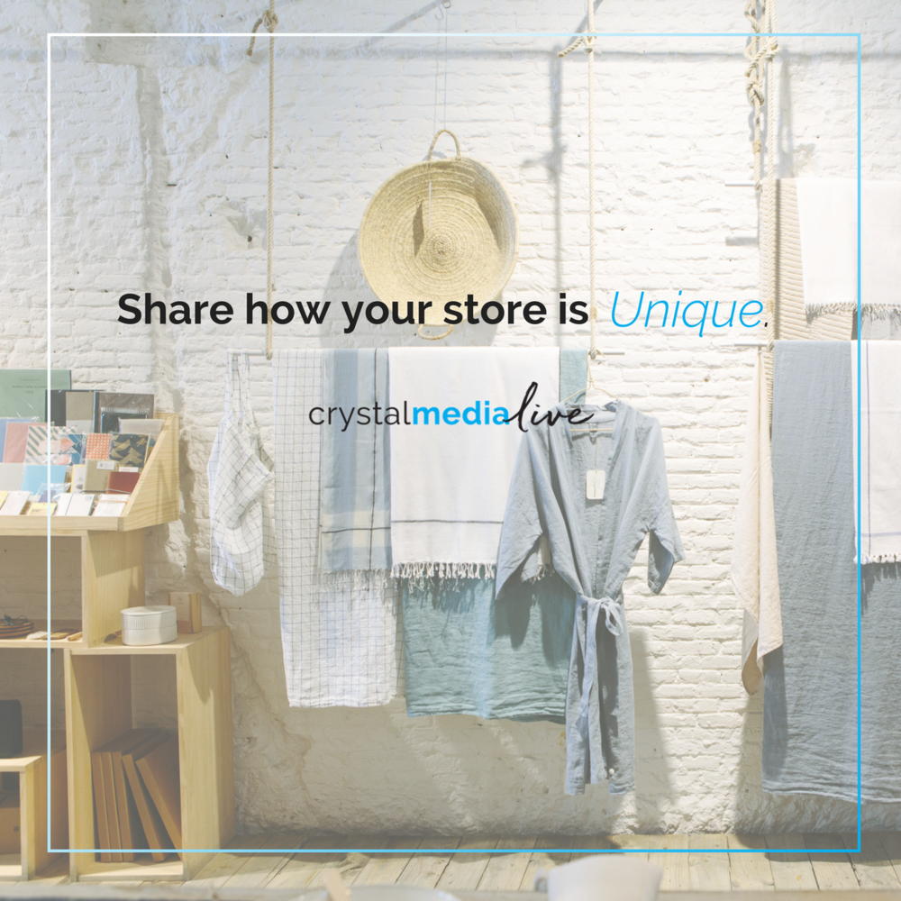 how is your store unique?