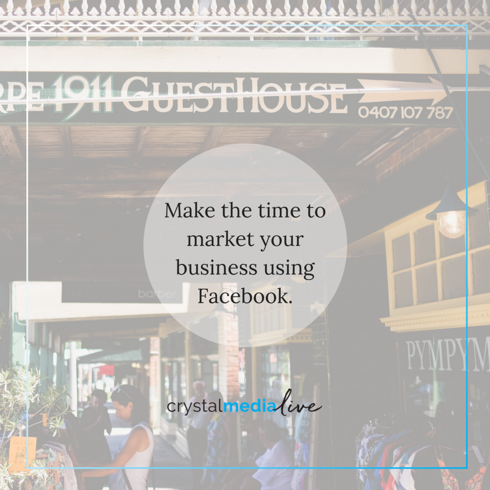 make time to market your store on facebook