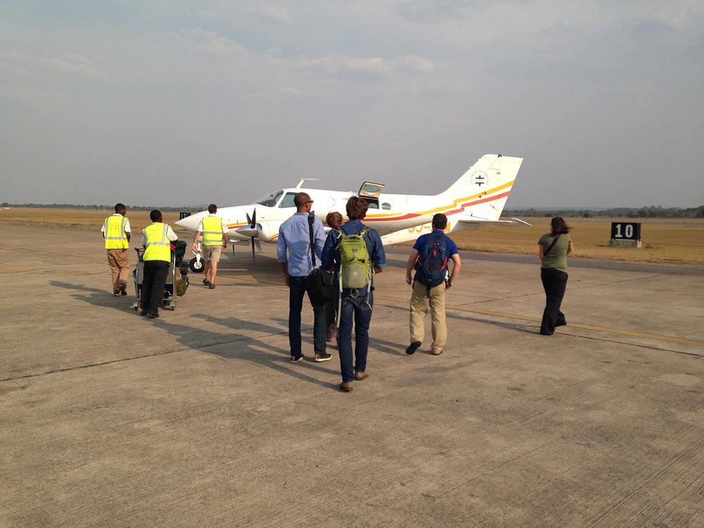 Charter Flight Royal Zambezi Lodge