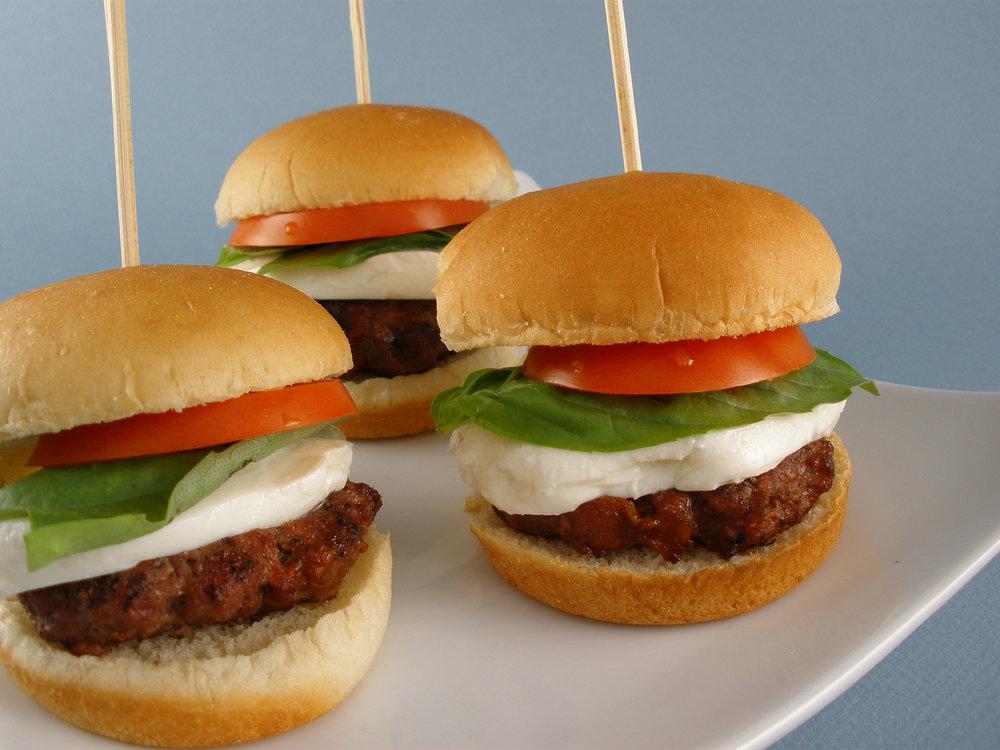 Baby Caprese Burgers