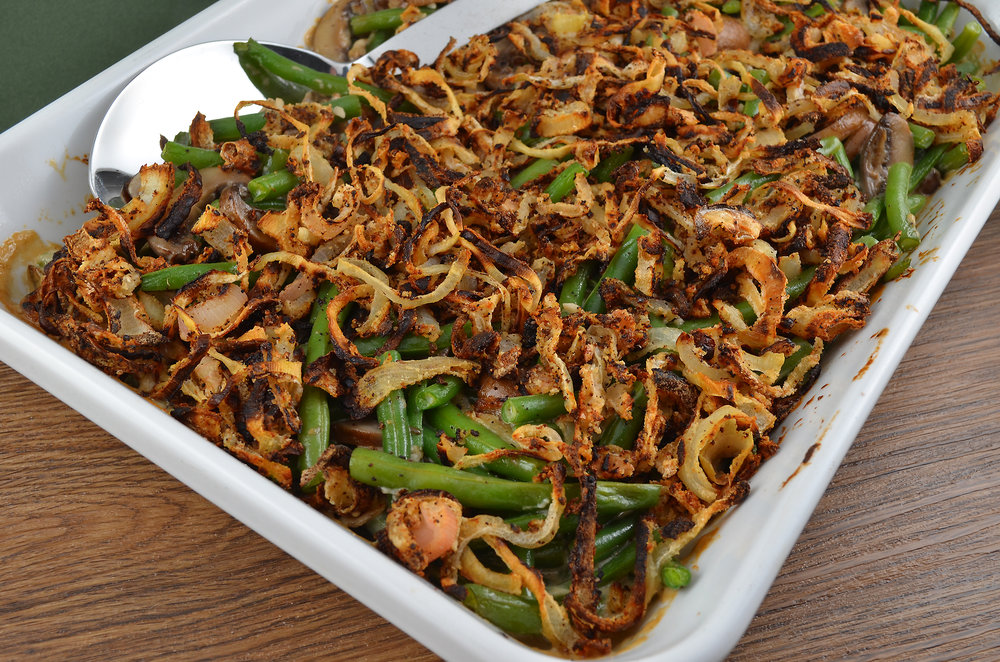 Green Beans with Cremini Mushroom Sauce