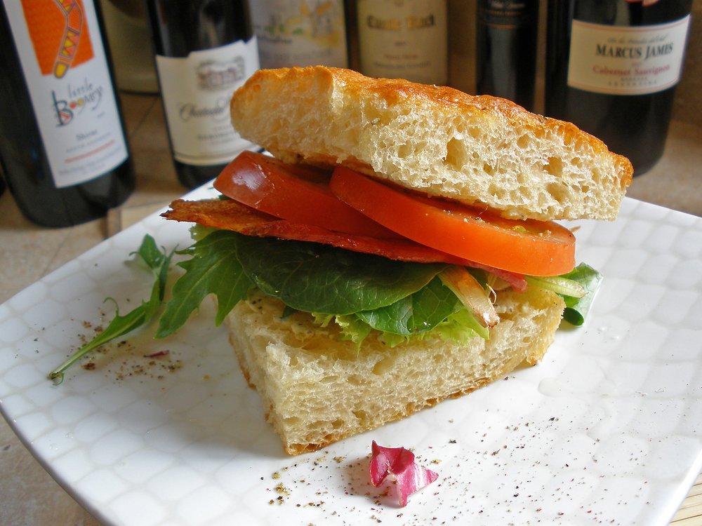 BLT Sandwich with Pesto Goat Cheese