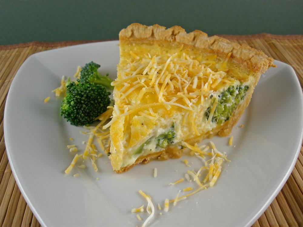 Broccoli & Cheese Quiche