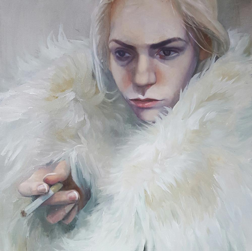 A-Self Portrait As Smoker-24x24.jpg