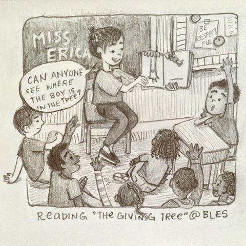 """Reading """"The Giving Tree"""""""