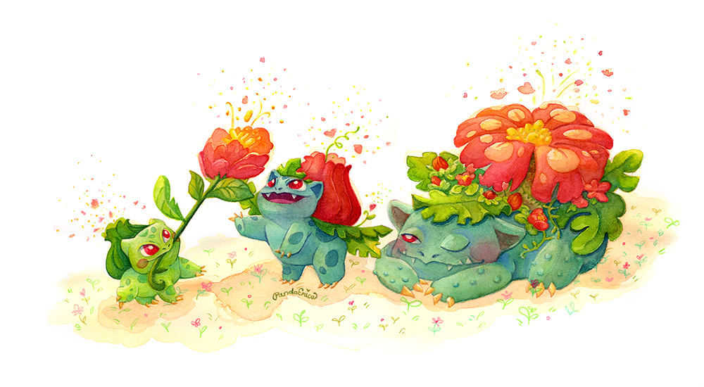 Bulbasaur Evolution fanart