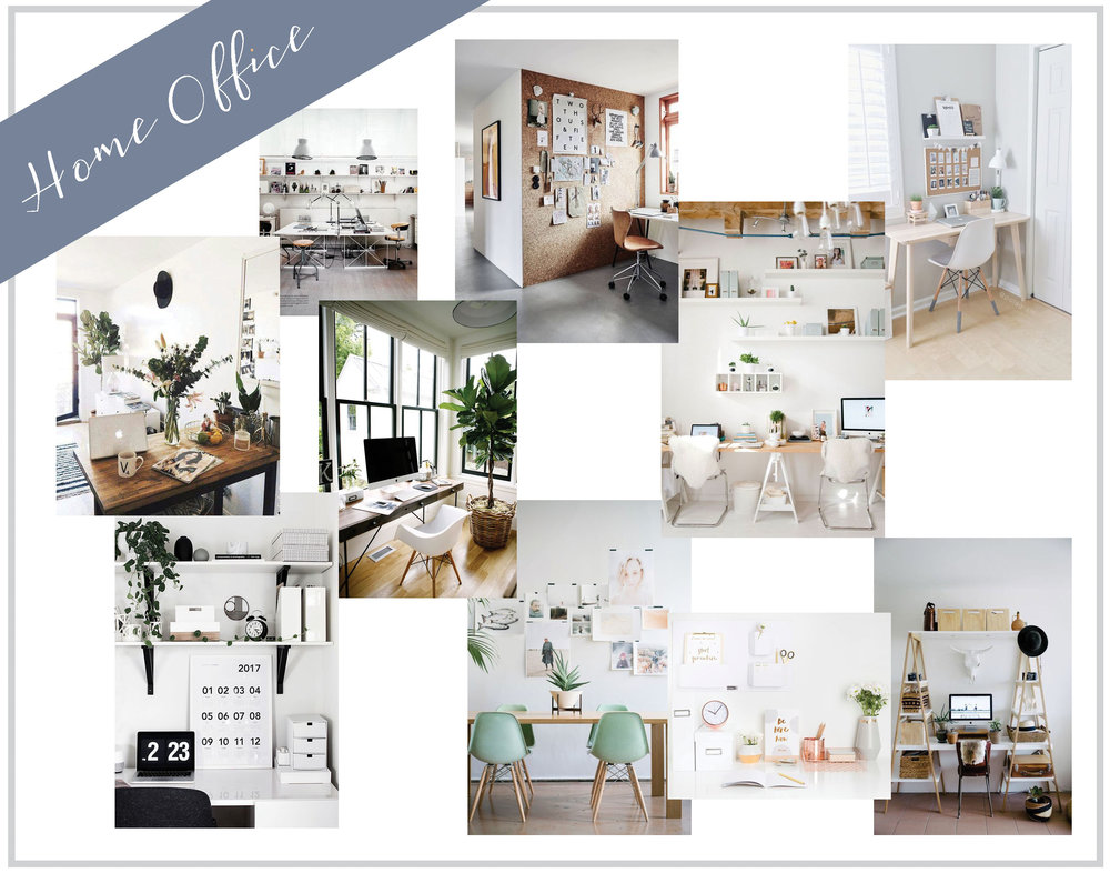 This is something I am SO excited about! I currently have a work space but I have always dreamed of a super trendy office/work space and I am committed to making this happen in the new house. I love white offices with accent colors, pin boards on the walls for inspiration, cute desk chairs, and big desks for two work spaces!