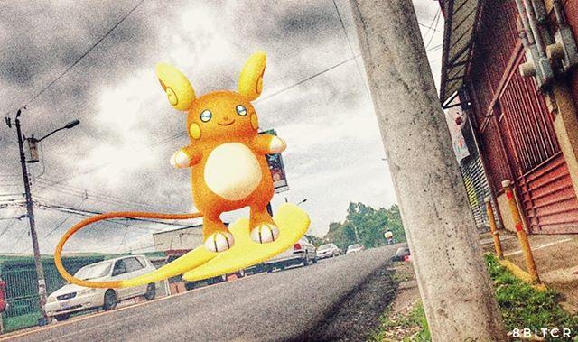 Pokémon 26: Raichu concentra sus poderes psíquicos en la cola y se desplaza deslizándose sobre ella. Se lo conoce como el Surfista de Tierra Firme. #pokemongo #pokemongoar