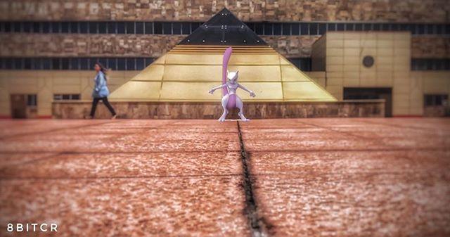 #La pirámide de Mewtwo!! #PokemonGO #pokemonGOar