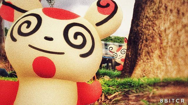 Pokemon 327: Dicen que no hay dos Spinda que tengan los mismos dibujos en el pelaje. Este Pokémon tiene una forma de andar inestable, va tambaleándose. Da la sensación de ir bailando. #pokemongo #pokemongoar
