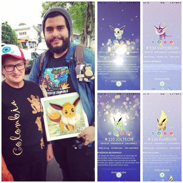 Un SÚPER #PokemonGOCommunityDay el día de hoy mañana temprano vlog de mi experiencia y si.. me regalaron un cuadro de Eevee!! 😱