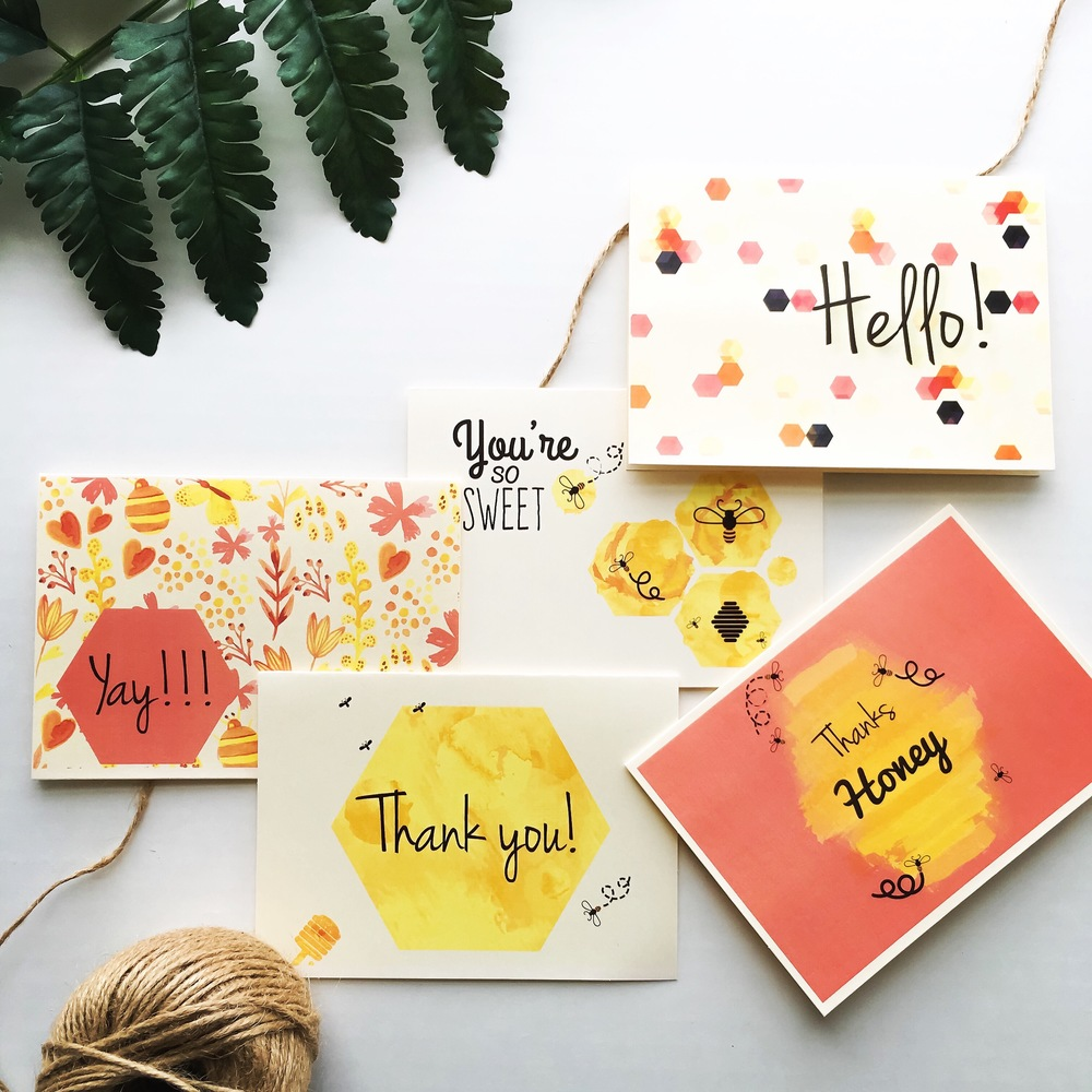 Bee My Honey Note Card Set