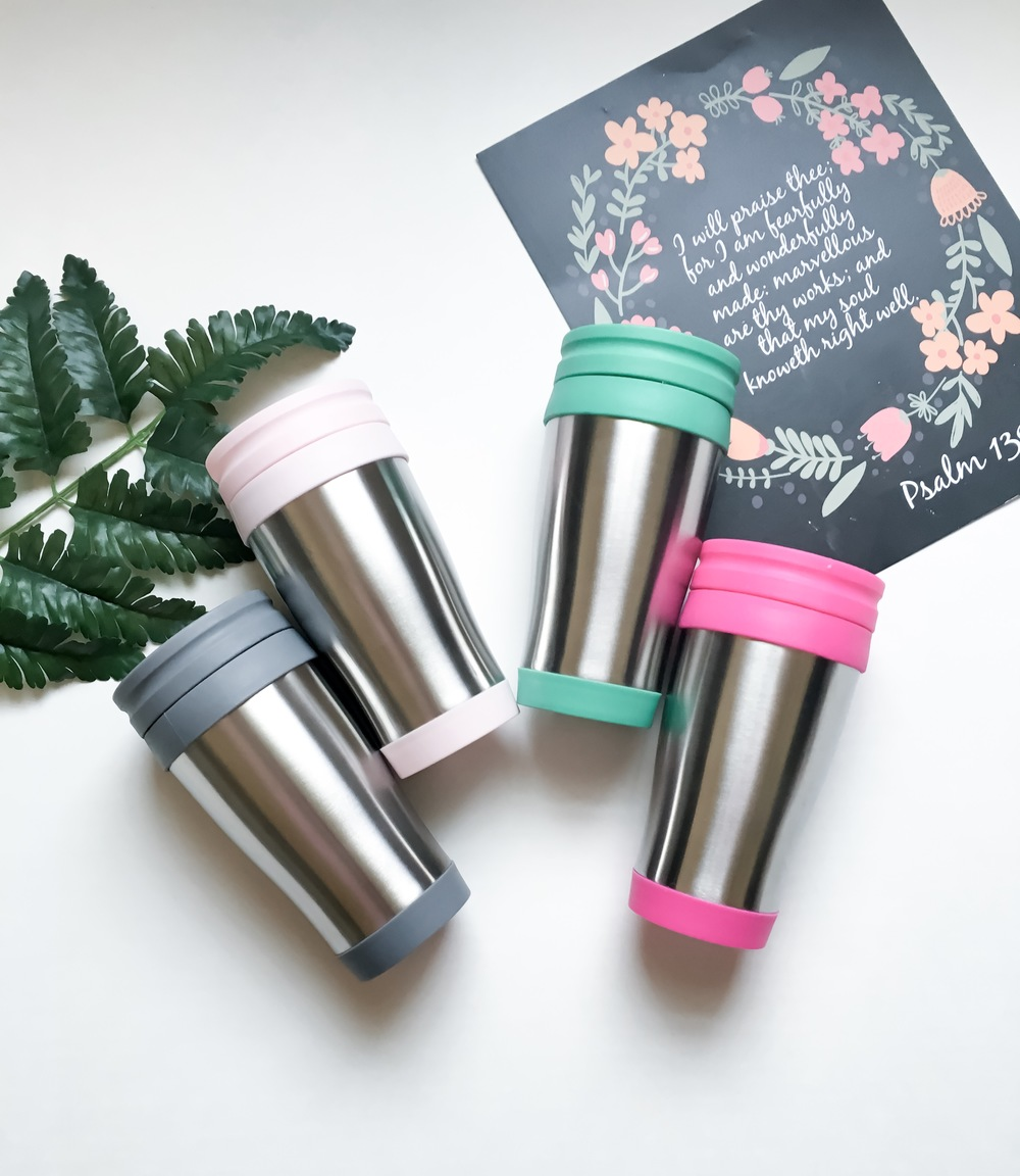 Monogrammed Travel Mugs
