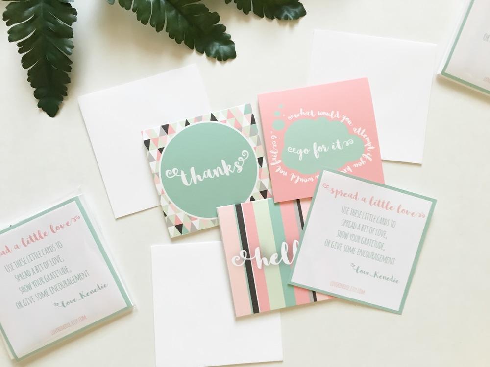Spread a Little Love Notecards