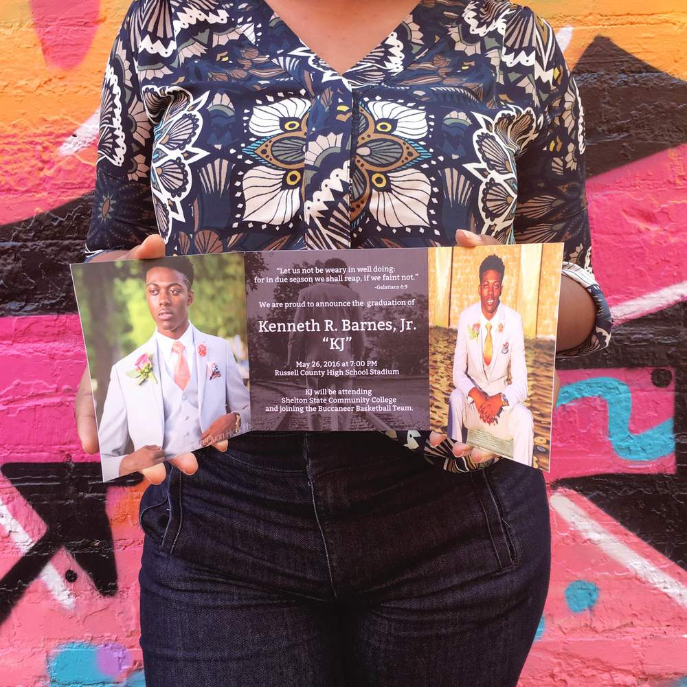 Custom Tri-fold Graduation Announcements