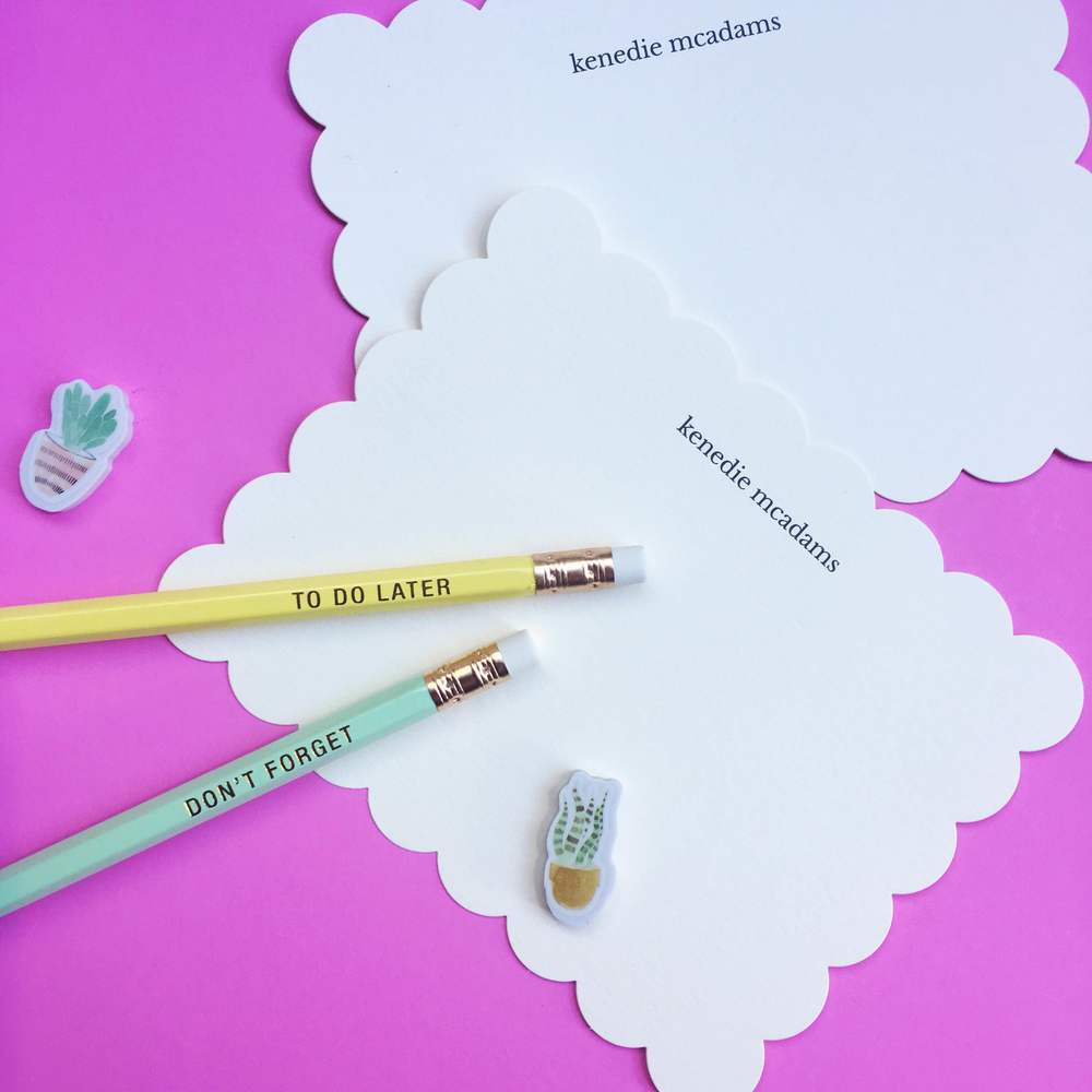 Scalloped Note Cards