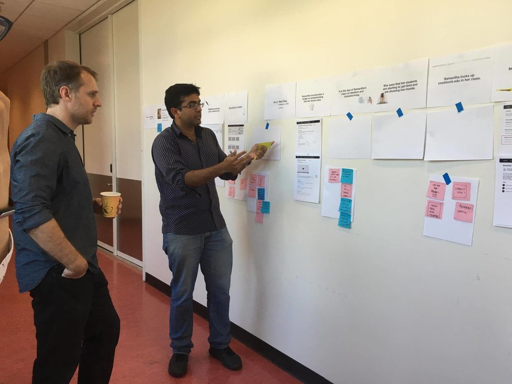 Validating storyboard with professors at UCSD