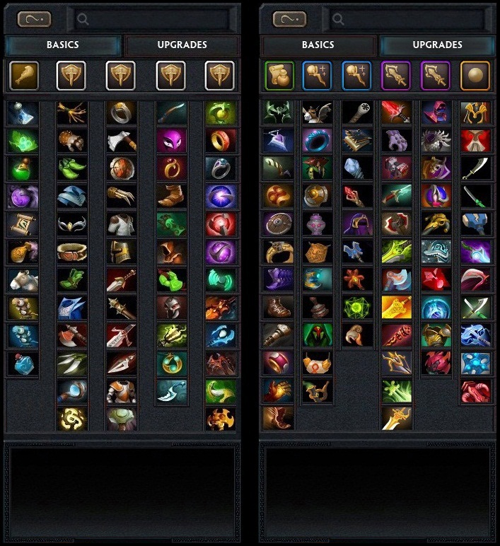 Current Dota 2 Shop Interface