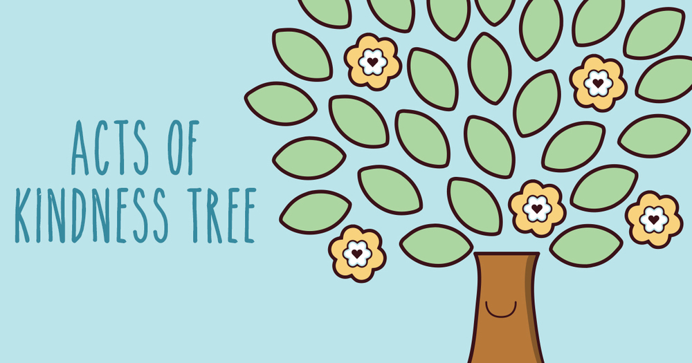 acts of kindness tree flow and grow kids yoga