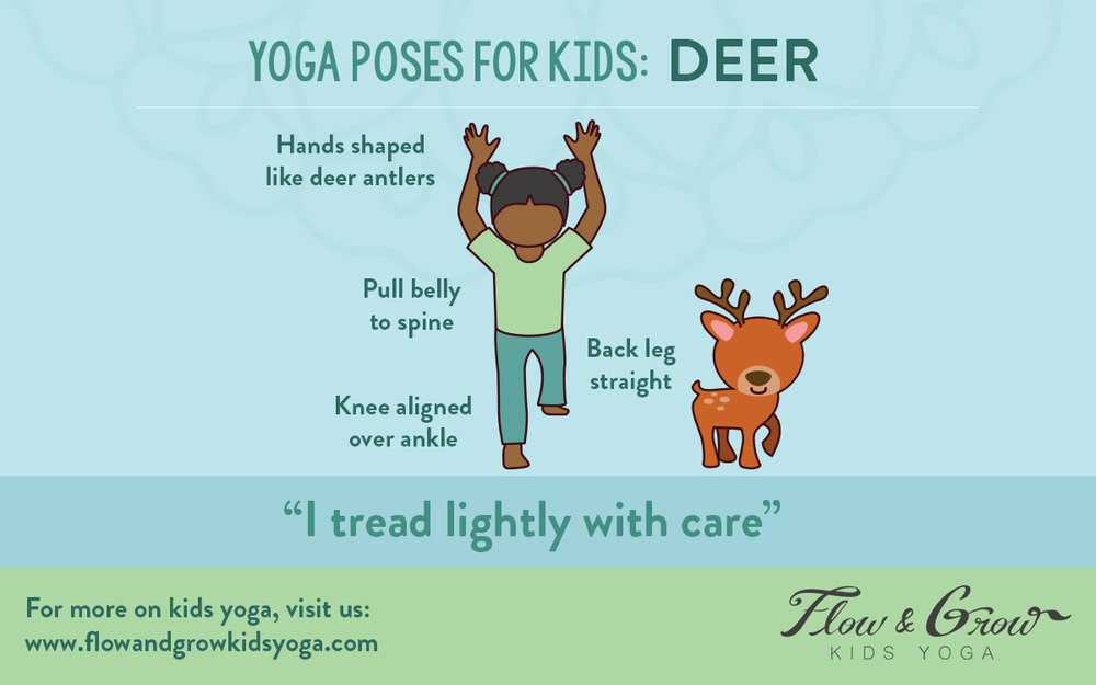 Deer Yoga Poses for Kids