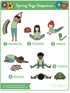 spring yoga sequence — flow and grow kids yoga