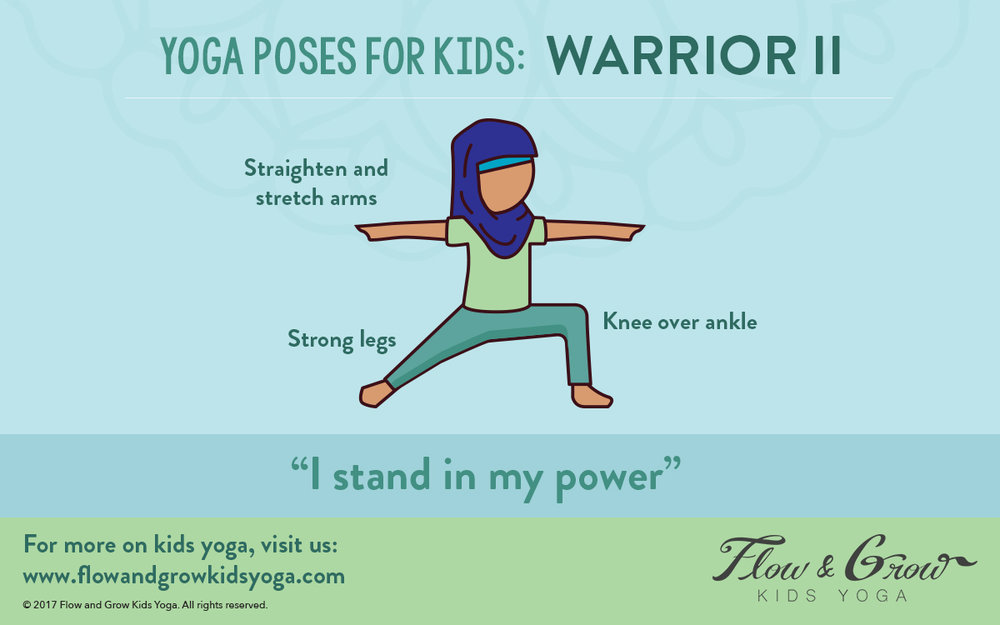 Warrior: Yoga Poses for kids
